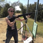 Jen with shotgun