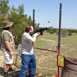 Cole is the expert skeet shooter