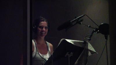 Tricia Helfer - VO recording for PostHuman